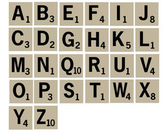 Scrabble Tiles SVG, Scrabble EPS, Scrabble Stencil, Letter Stencils Cricut, Scrabble Cut File, Scrabble Scrapbook, Letter Cutout, SVG File