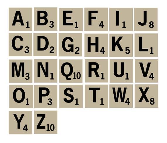 Scrabble Tiles SVG EPS Stencil Letter