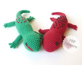 Amigurumi Salamander / Amigurumi Gecko Crochet Pattern, PDF download