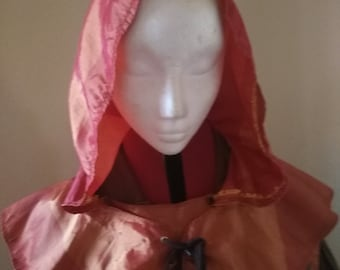 Satin Hood - USED , LARP Essential