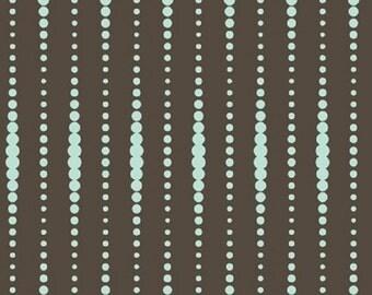 "Studio e  ""Flourish"" Beads Brown    Premium Cotton Fabric    BTY"