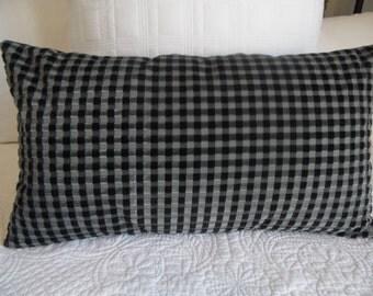 VELVET.Pillow Cover.Black.Silver Grey.TEXTURE.Soft Velvet Pillow Cover.Cotton.Home Decor.Pillow Covers.Slip Covers.Glam Decor