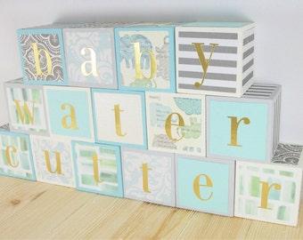 Personalized Baby Blocks,Custom Baby Blocks,Baby Blocks,Wooden Baby Blocks,Baby Shower Gift,New Baby Gift,Nursery Decor,Name Blocks Custom