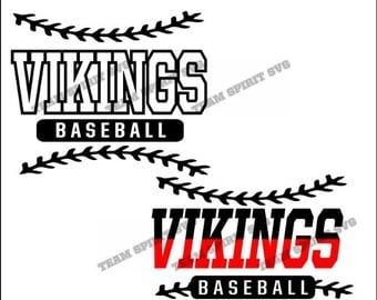 Vikings Baseball Laces Download Files - SVG, DXF, EPS, Silhouette Studio, Vinyl Cut Files, Digital Cut Files -Use with Cricut and Silhouette