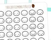 Emoti heads pt.3  - emoti planner stickers E113