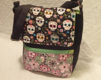 Skull & Flowers Crossbody