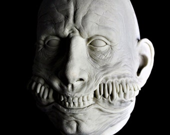 Smile Latex Blank Casting, Mask Or Display Prop For You To Paint