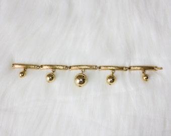 Vintage Gold Ball Charm Bracelet