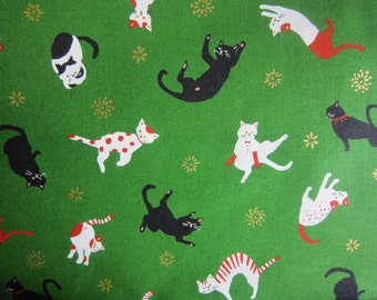 New!! Cotton cat sheeting 5m made in Japan kawaii