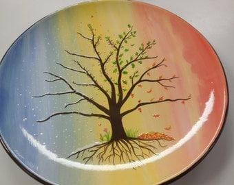 4 Seasons Tree of Life Plate