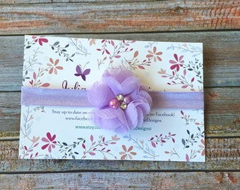 Lavender Baby Headband/Purple Baby Headband/Easter Headband/Baby Headband/Newborn Headband/Infant Headband/Lavender Headband/Hair Bow/Baby