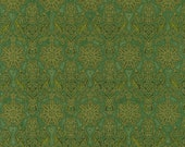 Evergreen Damask with Metallic from Winter's Grandeur 4 Collection by Robert Kaufman