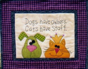 Dogs Vs. Cats Wall Hanging Pattern by Lynn Doyle from Blooming Minds