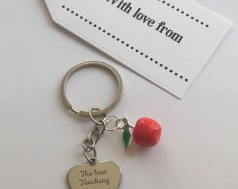 Teaching assistant gift, teaching assistant keyring, end of year gift.