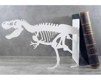 Large Tyranosaure black or white metal bookends