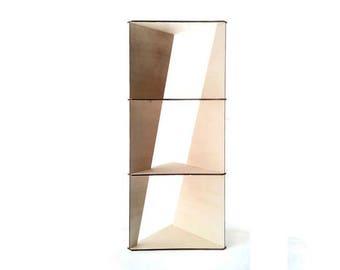 Wooden corner shelf,modern corner shelves,storage shelf,minimalist shelf,modern shelving,modern furniture,wood shelves,corner bookshelf