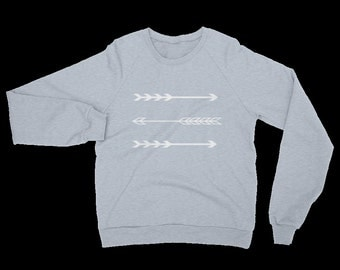 Arrows Sweatshirt Warm Heather Grey Gray Three Arrows