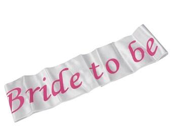 Bride to be Bridal sash