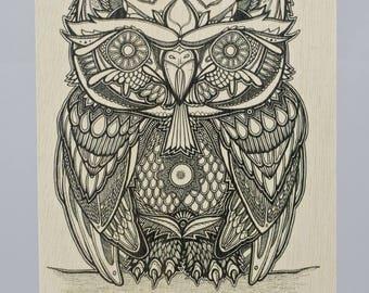 Owl Birchwood Greeting Card