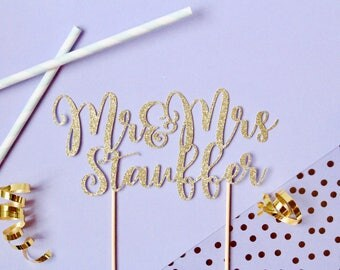 Custom Wedding Cake Topper // Cake Topper // Wedding Cake Topper // Engagement Party // Engagement Cake Topper // Celebrate // Wedding Party