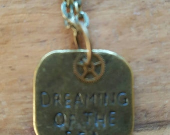 Dreaming of the sea vintage style necklace. Small Charm.
