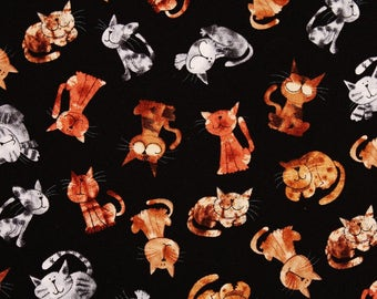 Cats Kitten printed Fabric by Timeless Treasures Fabrics by the Half Yard
