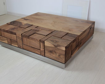Hand made walnut coffee table