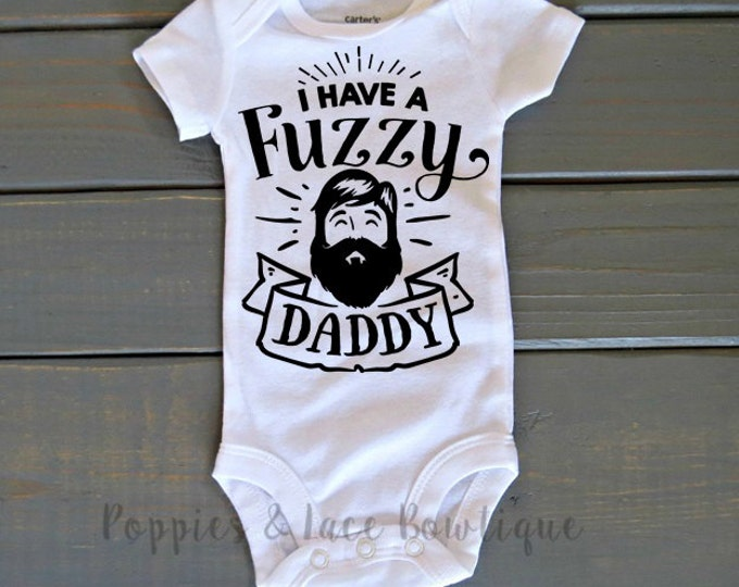 Fuzzy Daddy Bodysuit, Beard Shirt, Funny Kids' Clothing, Baby Shower Gift, Father's Day Gift, Hipster Baby