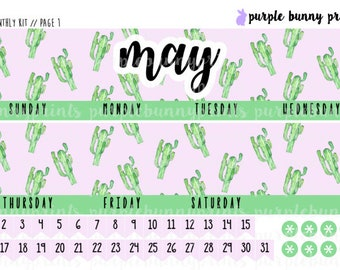May MONTHLY Kit // Sized for the ECLP // Planner Stickers!