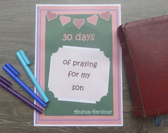 30 Days of Praying for my Son Journal