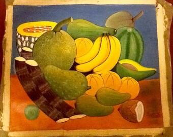 """Haitian Art """"Fruit on a Haitian Table"""" *Sale*"""