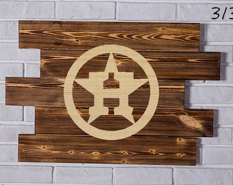 Houston Astros Wood Sign Houston Astros Wall art Houston Astros Gift Houston Astros Birthday Houston Astros Party wooden