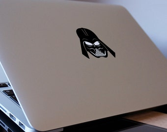 "DARTH VADER HEAD MacBook Decal Sticker fits 11"" 12"" 13"" 15"" and 17"" models"