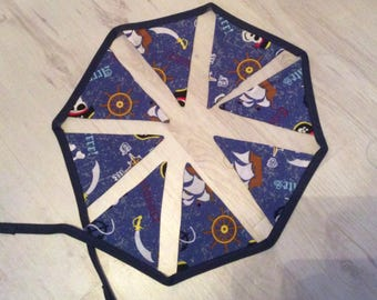 "Handmade pirate bunting. Great for boys room. 6"" by 60"". Made in scotland. Birthday, Easter."