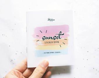 Sunset Functional Sticker Book / Planner Stickers / Vertical Planner Stickers / Pastel Stickers / for use with Erin Condren LifePlanner™