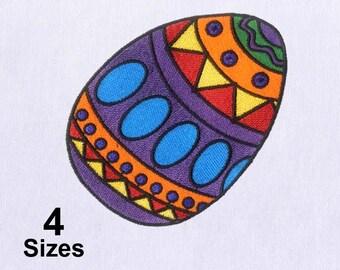 Elaborately Detailed Easter Egg Embroidery Design