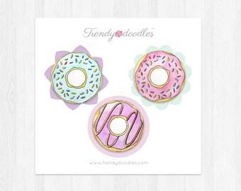 Donut badges trio