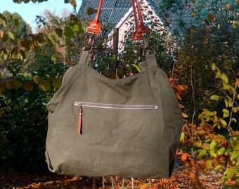 Tasche aus Armee-Zeltplane, Military Canvas Bag