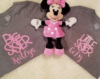 Personalized Big Sister and little sistere T shirts