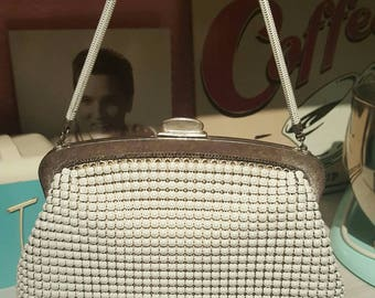 Cream Genuine Oroton Glomesh Handbag