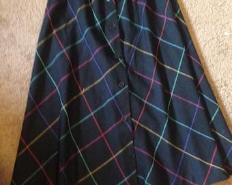 1970s Lightweight Wool Skirt