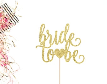 Bride To Be Cake Topper   Bridal Shower Topper   Bachelorette Party Cake Topper   She Said Yes   Miss To Mrs Decor   Engagement Topper