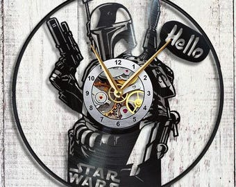 Star Wars Clone Vinyl LP Record Wall Clock