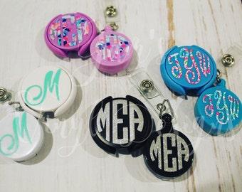 Nurse Monogram Badge Reel, Monogram Badge Reel, Nurse Accessories, ID Badge Reel, Medical ID, Badge Reel