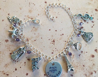 Once Upon a December - Deluxe Hand Stamped Charm Bracelet