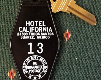 Sale! Hotel California Room Key #13(The Master's Chambers) The Eagles Glenn Frey Don Henley