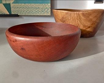 Sculpted Swedish Teak Bowl by Bonniers