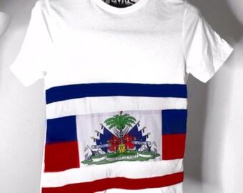 Haiti flag shirt
