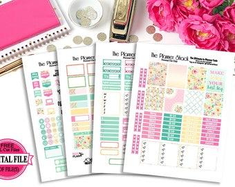 Summer Blooms // Erin Condren // Printable Planner Stickers