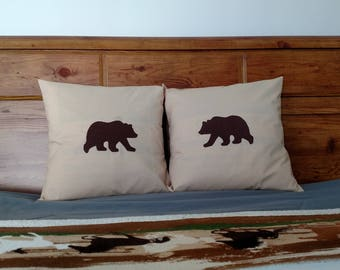 Envelope Bear Pillow Cases
